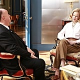 She sits down with . . . Alfred Hitchcock?