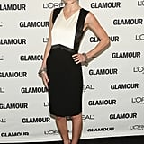 For the 2008 Glamour Women of the Year Awards, Kate Bosworth kept it classic in a black-and-white colorblocked sheath, patent pumps, and a few marcasite bracelets.