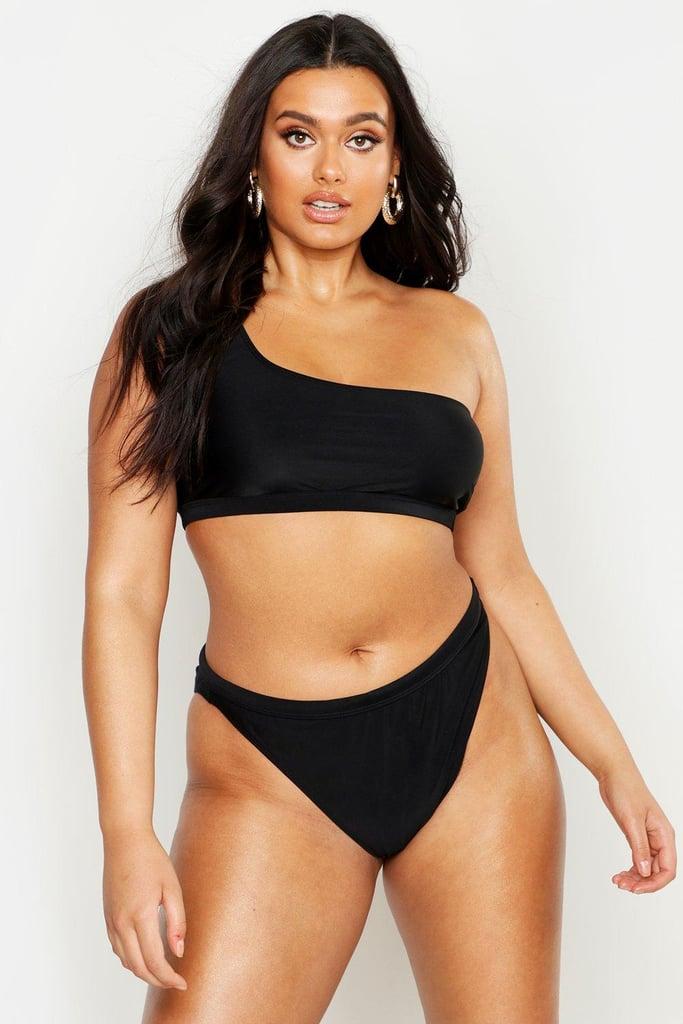 Our Pick: Boohoo One Shoulder High Leg Bikini