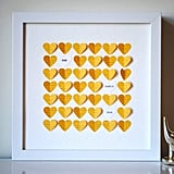 3D Yellow Hearts ($65)