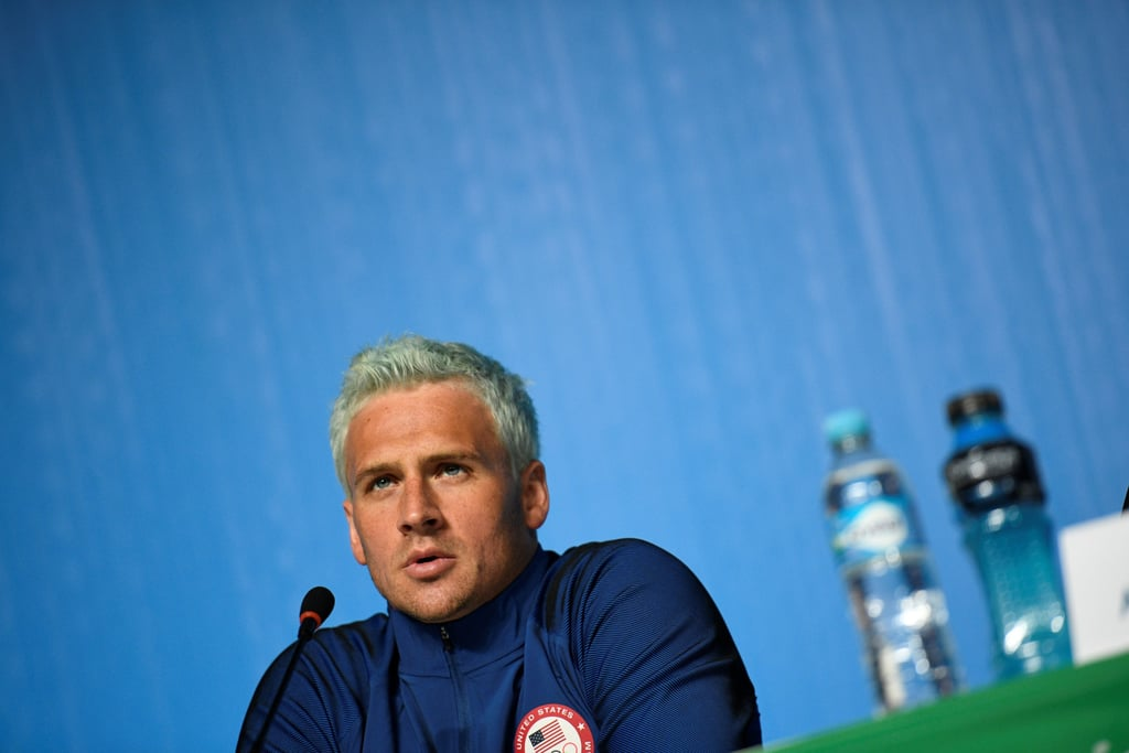 Ryan Lochte With Green Hair At 2016 Olympics Popsugar Beauty