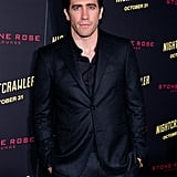 Jake was suited up for the NYC premiere of Nightcrawler in October 2014.