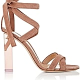 The show-stopping Gianvito Rossi Women's Suede Ankle-Tie Sandals ($1,075) make sure all eyes are on you.