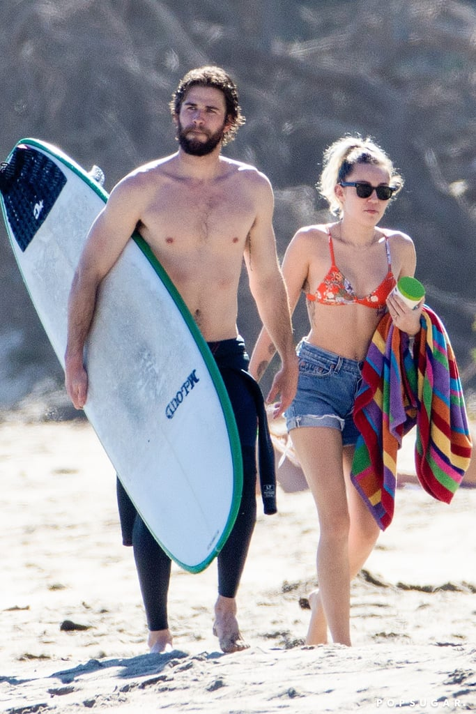 Miley Cyrus And Liam Hemsworth On The Beach In Malibu 2017 -7893