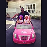 Diddy rode around with his daughters, D'Lila and Jessie. Source: Twitter user iamdiddy