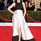 Julianna Margulies wore black and white on the red carpet at the SAG Awards.
