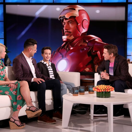 Watch Robert Downey Jr. Meet a Fan With Autism on Ellen