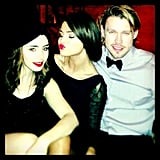 Selena snapped a picture with Glee actor Chord Overstreet and Lily Collins. Source: Instagram user selenagomez