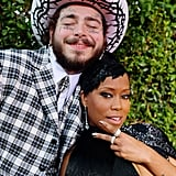 Post Malone and Regina King at the 2019 American Music Awards