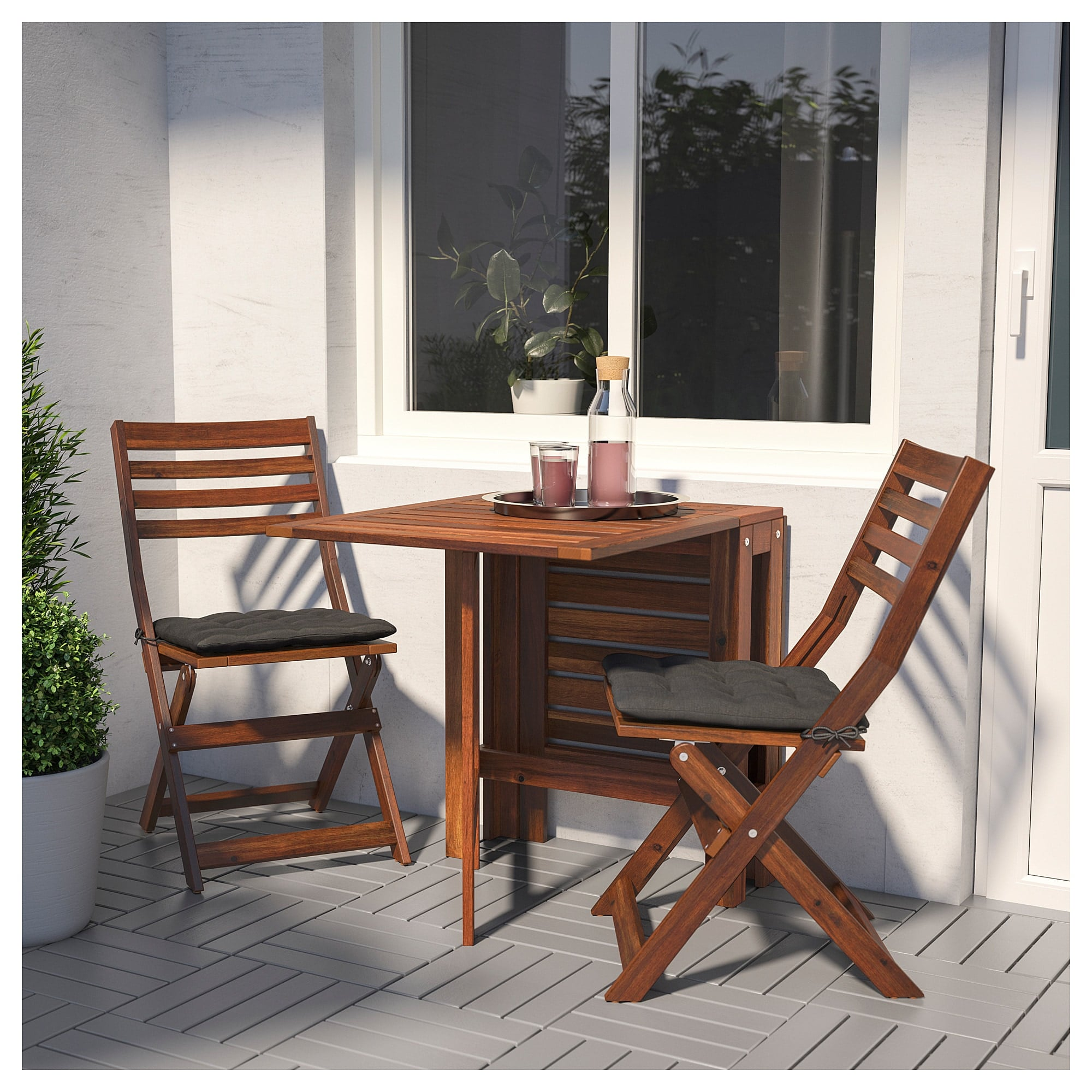 Applaro Table And Two Folding Chairs Best Ikea Outdoor Furniture For Small Spaces Popsugar Home Australia Photo 41