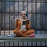 Harley Quinn is all locked up.