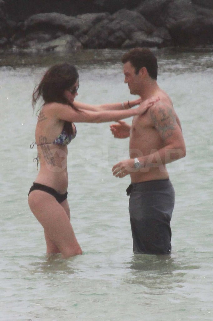 Megan Fox Slips On a Bikini For a Walk in the Sand With Shirtless BAG