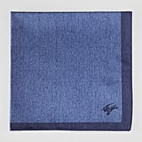 Contrast-Border Silk Pocket Square ($90)