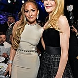 Jennifer Lopez and Nicole Kidman at the 2020 Critics' Choice Awards
