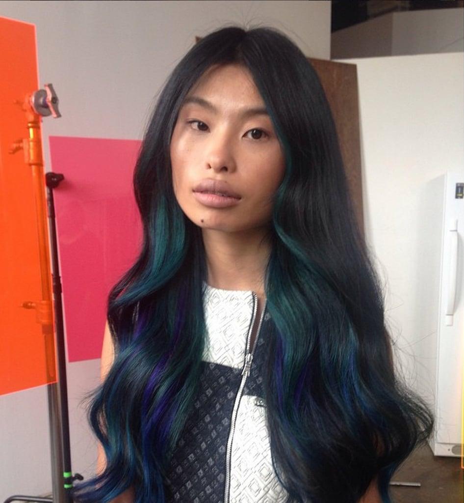 Oil Slick Rainbow Hair Colour