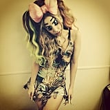 Lady Gaga went all out for her anime-inspired outfit in Japan. Source: Instagram user ladygaga