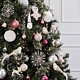 Faux-Fur White Christmas Ornament Set