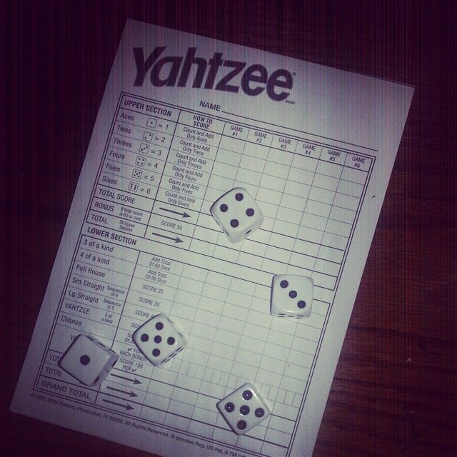 You: Play Yahtzee With Your Mom
