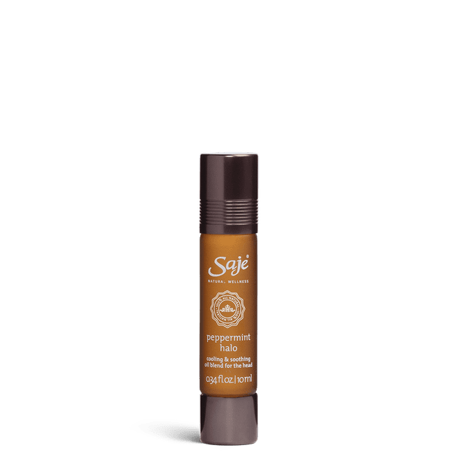 Saje Peppermint Halo Cooling and Soothing Oil Blend
