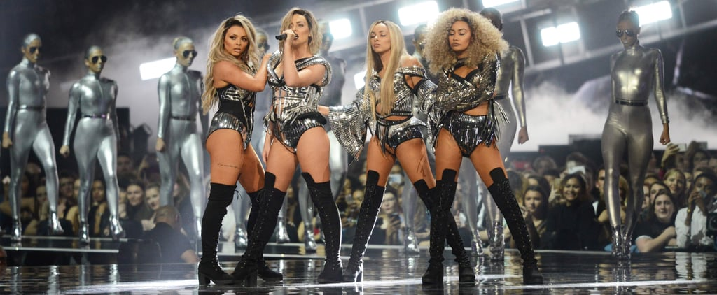 Little Mix Hit The Brits' Stage as Blonde Bombshells
