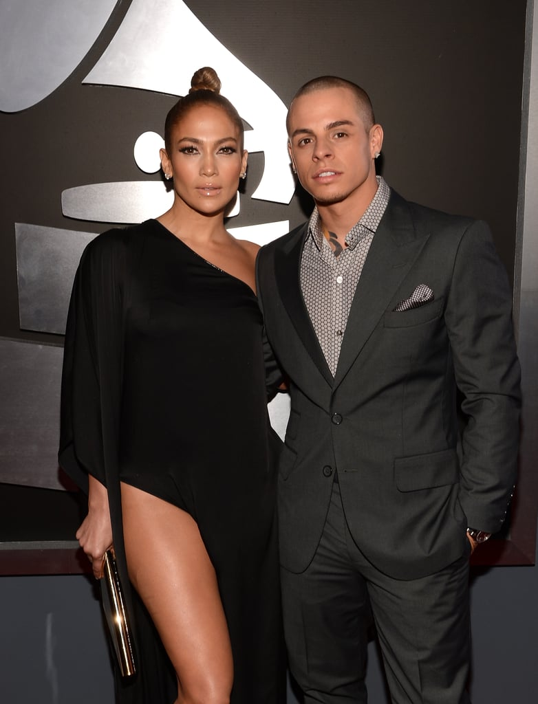 Jennifer Lopez Shows Lots of Leg on the Grammys Red Carpet