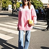 With an oversize sweater and embellished heels you weren't expecting