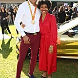 Roderick Townsend and Tynita Butts at the 2020 Gold Meets Golden Party in LA