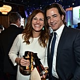 The actress reunited with her My Best Friend's Wedding costar Dermot Mulroney at the Hollywood Film Awards in October 2013.