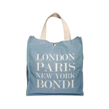 London, Paris, New York London Tote in Denim