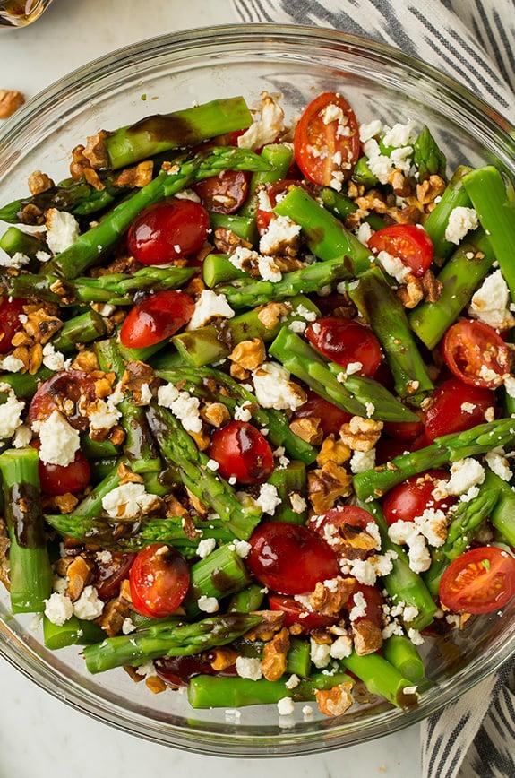 Ensalada de Espárragos, Tomate y Feta