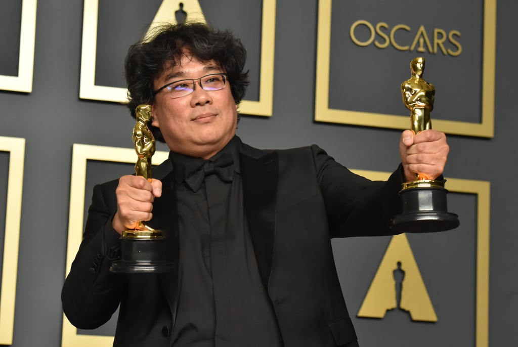 Bong Began His Post-Oscars Photo Shoot by Striking Some Relatively Basic Poses