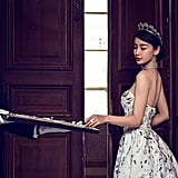 Angelababy wore Chaumet jewels for her wedding portraits, too.