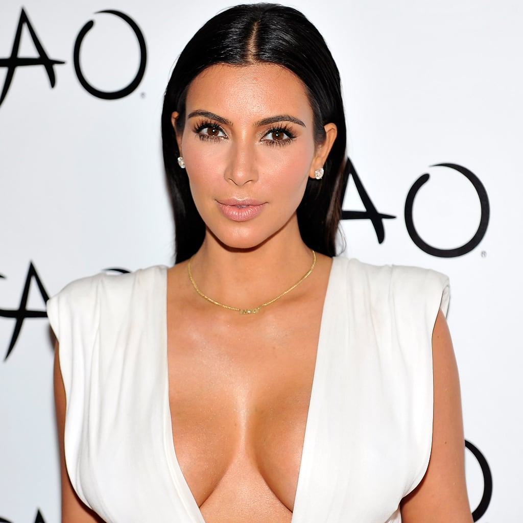 Kim Kardashian's Low Cut White Birthday Dress