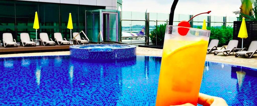 بركة السباحة على سطح مبنى مطار شانغي