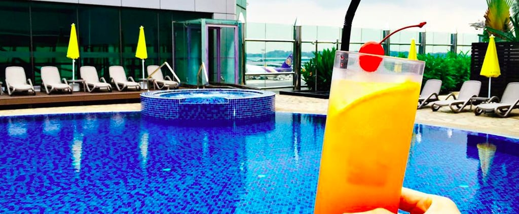 This Rooftop Airport Pool Will Have You Crossing Your Fingers For a Flight Delay