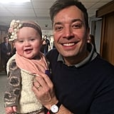 """River's first #FallonTonight .....thanks for having us@jimmyfallon! Everybody tune in tonight!"""