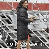Robin Givens grabbed a bite to eat while on a break from shooting 90210 in LA on Tuesday.
