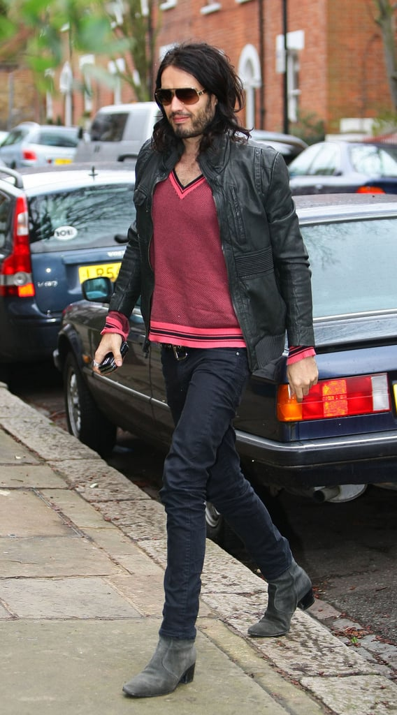 Photos of Russell Brand at his Home in London
