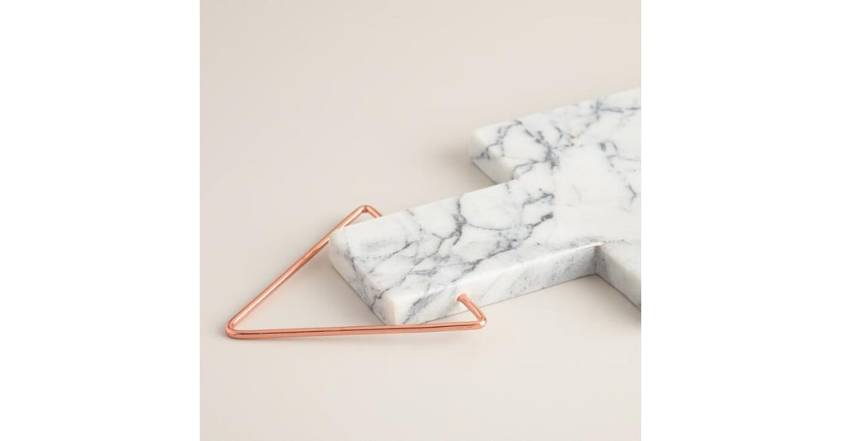 World Market Marble Paddle Cutting Board With Copper Handle 35 Sleek Copper Kitchen Products For Every Budget Popsugar Food Photo 6