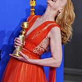 Patricia Clarkson Having a Hearty, Full-Throated Cackle