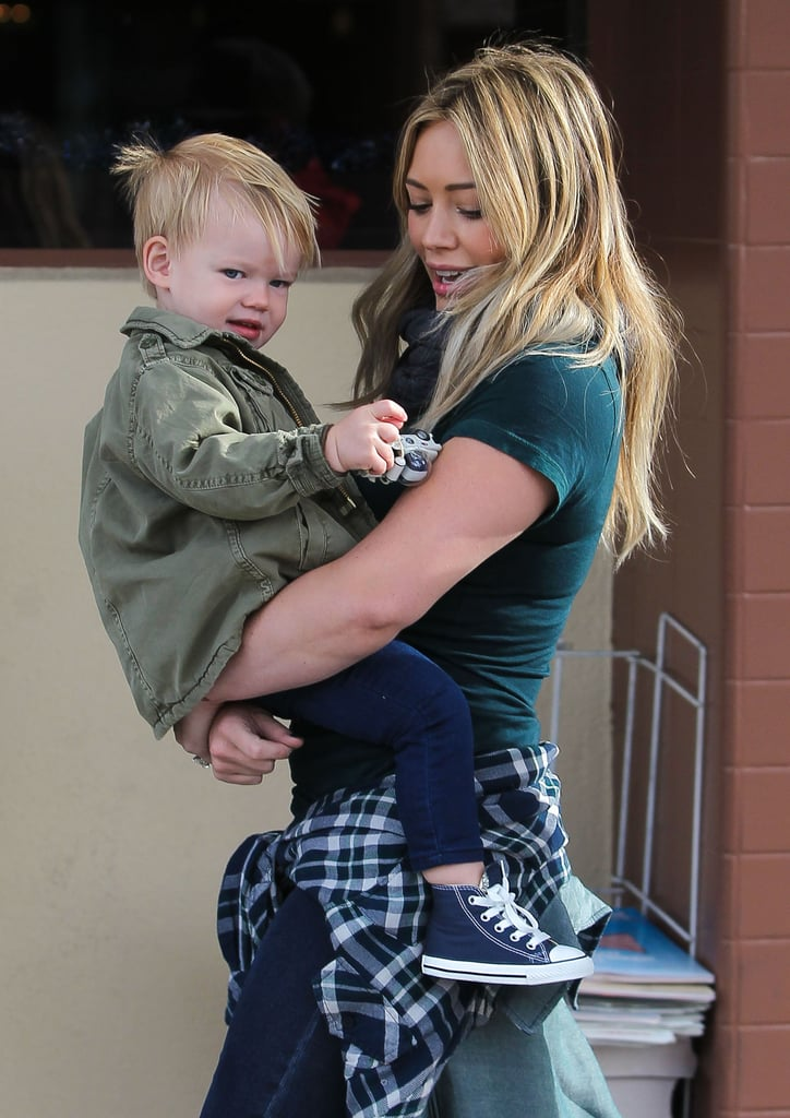Hilary Duff took her son, Luca, out to breakfast in LA on Saturday.