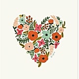 For Her: Flora Heart Print