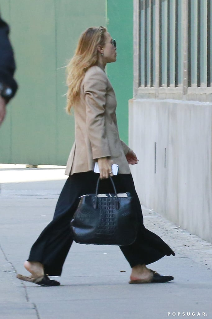 Mary-Kate Olsen Wearing Gucci Slippers