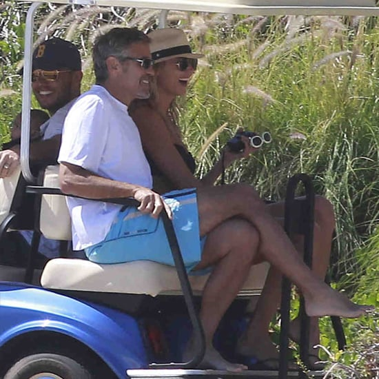 George Clooney Stacy Keibler Cabo Vacation (Video)