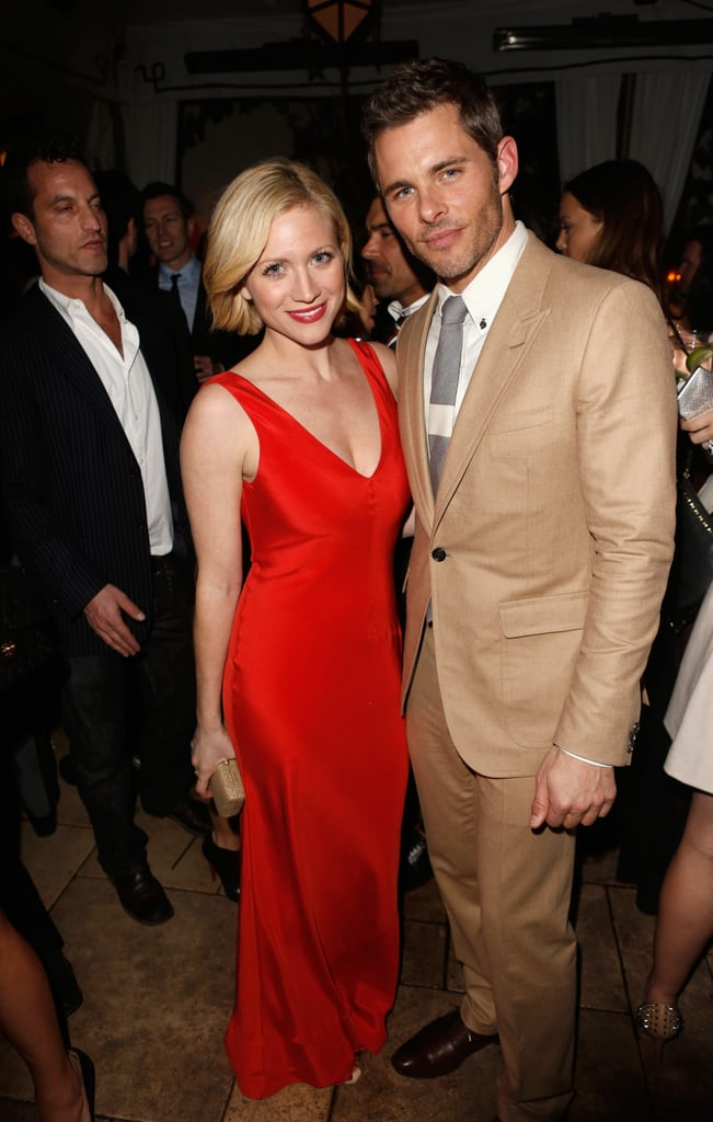 James Marsden posed with Brittany Snow at GQ's afterparty.