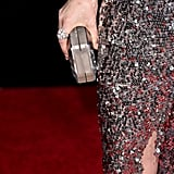 She Matched Her Chunky Chanel Ring and Rauwolf Clutch to Her Sparkly Dress