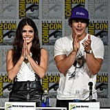 Pictured: Marie Avgeropoulos and Bob Morley.