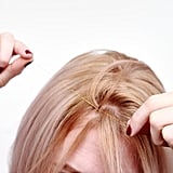 Repeat this process until you have 15-20 strands of tinsel in your hair. They should all be created around your natural part at the front third of your scalp, because you'll be pulling them back to plait a rope braid.  If your hair is super thick and you want the metallic accent to stand out more, group a few strands of tinsel and make a slip knot the same way as before, attaching them just like you would one single strand.