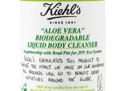 Brad Pitt and Kiehl's Launch Aloe Vera Liquid Cleanser. 100% of Price Goes To Environmental Charity. Photo Brad and Angelina