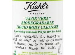 Brad Pitt and Kiehl's Launch Aloe Vera Liquid Cleanser. 100% of Price Goes To Environmental Charity. Photo Brad and Angelina
